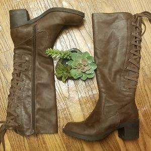 💎Rocket dog hickory roast riding boot chunky heel